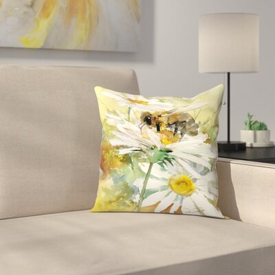 Honey Bee 3 Throw Pillow Size: 18 x 18