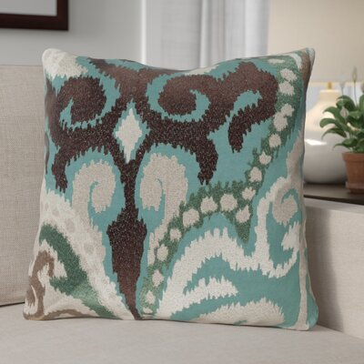 Claysburg Throw Pillow Color: Green / Brown, Fill Material: Polyester