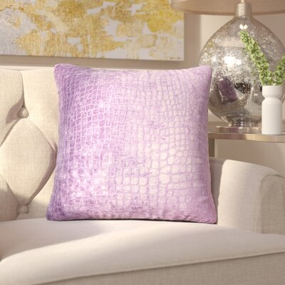 Lelon Solid Down Filled Throw Pillow Size: 18 x 18, Color: Amethyst