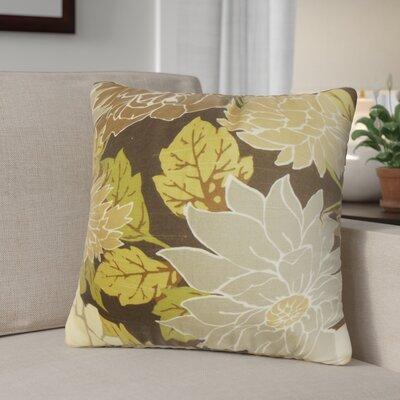 Raluca Floral Cotton Throw Pillow Color: Brown