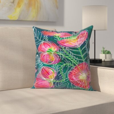 Paula Mills Always Flowers Throw Pillow Size: 14 x 14