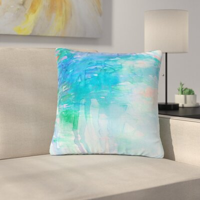 Ebi Emporium Carnival Dreams Outdoor Throw Pillow Size: 16 H x 16 W x 5 D, Color: Blue