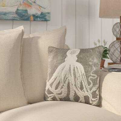 Firth Nautical Throw Pillow Color: Gray