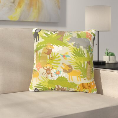 Petit Griffin Roar of the Jungle Animals Outdoor Throw Pillow Size: 16 H x 16 W x 5 D