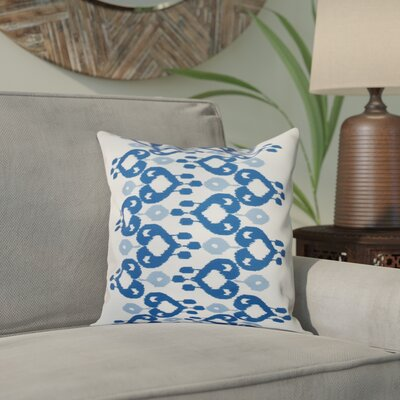 Sabrina Geometric Print Throw Pillow Size: 16 H x 16 W, Color: Dark Blue
