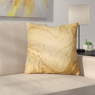 Bernadine Throw Pillow Size: 20 H x 20 W x 4 D, Color: Orange