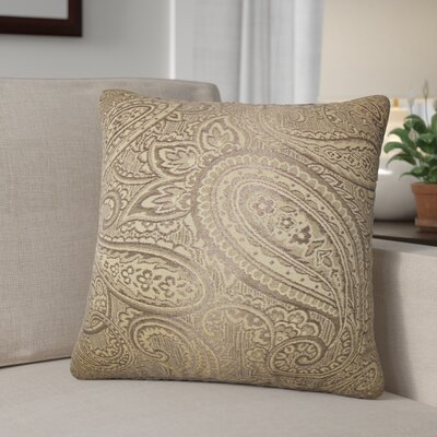 Digby Paisley Cotton Throw Pillow Color: Brown