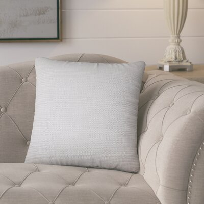 Tiffany Weave Cotton Throw Pillow Color: Gray