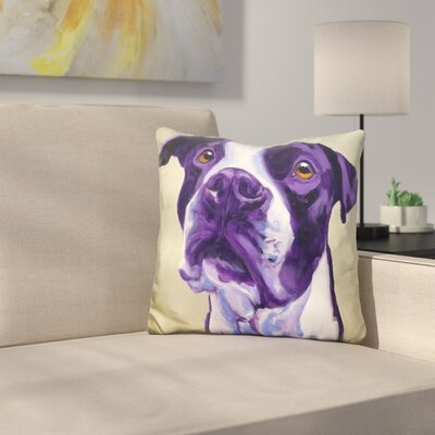 Pit Bull David Throw Pillow