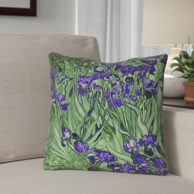 Morley Irises Indoor/Outdoor Throw Pillow Color: Pink, Size: 18 x 18