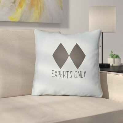Indoor/Outdoor Throw Pillow Size: 20 H x 20 W x 4 D, Color: Blue