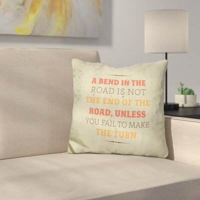 Eckstein a Bend in the Road Throw Pillow