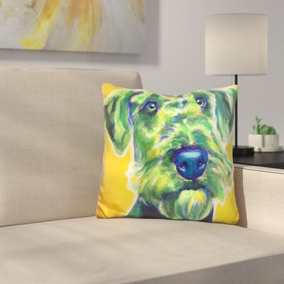 Ai Ale Terrier Apple Throw Pillow