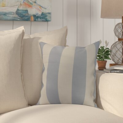 Harriet Rugby Stripe Throw Pillow Color: Blue, Size: 18 x 18