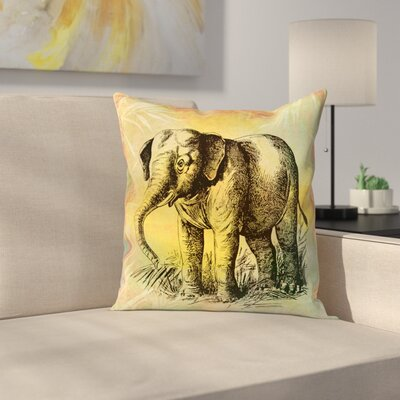 Vintage Animal Color 3 Throw Pillow Size: 14 x 14