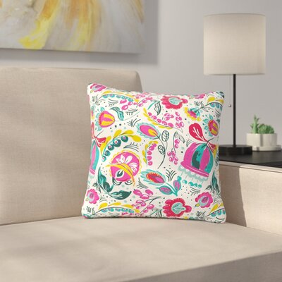 Agnes Schugardt Folk in the Field Floral Pattern Outdoor Throw Pillow Size: 16 H x 16 W x 5 D