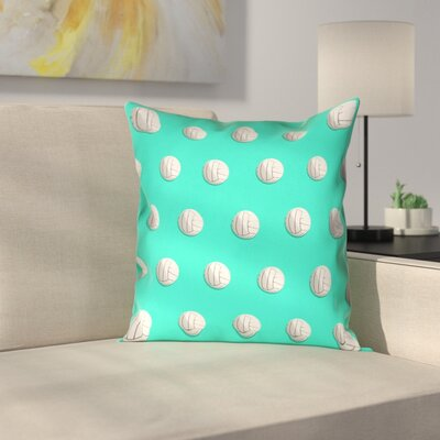 Volleyball Linen Pillow Cover Size: 14 x 14, Color: Teal