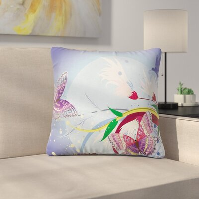 Modern Floral 16 Square Pillow Cover Size: 18 x 18