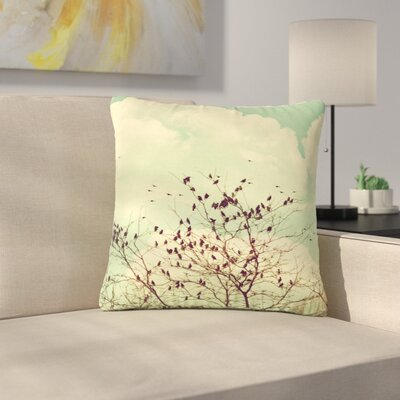 Sylvia Coomes Birds of a Feather Outdoor Throw Pillow Size: 16 H x 16 W x 5 D