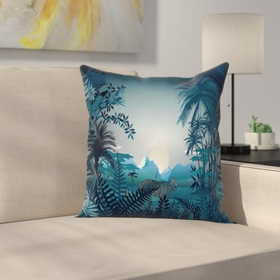 Tiger Square Pillow Cover Size: 18 x 18
