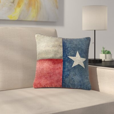 Bruce Stanfield Texas State Flag Vintage Digital Outdoor Throw Pillow Size: 16 H x 16 W x 5 D
