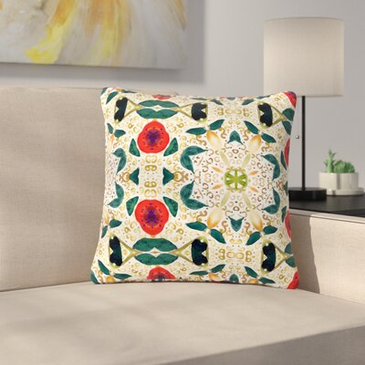 Laura Nicholson Persimmons and Peaches Abstract Outdoor Throw Pillow Size: 16 H x 16 W x 5 D
