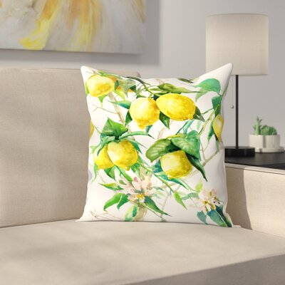 Suren Nersisyan Lemon Tree 3 Throw Pillow Size: 14 x 14