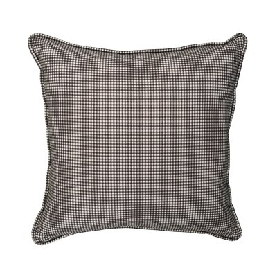 Feliz Gingham Piped 100% Cotton Throw Pillow Color: Black