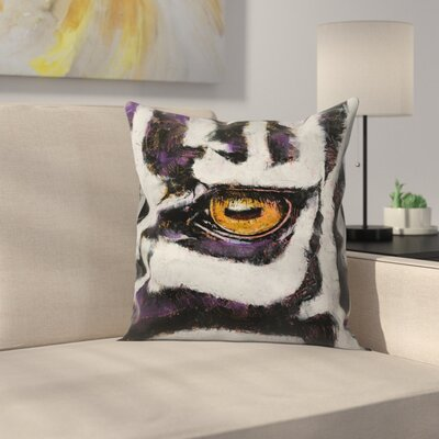 Michael Creese Zebra Throw Pillow Size: 18 x 18
