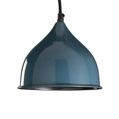 Dinardo 1-Light Inverted Pendant Finish: Indigo, Size: 68�H�x�9�W�x�9�D