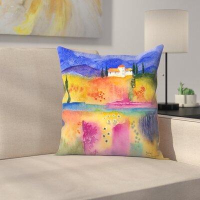 Flowery Fields Throw Pillow Size: 18 x 18