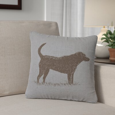 Fendley Lab Throw Pillow Color: Gray