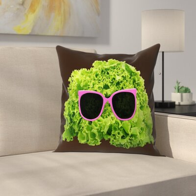 Florent Bodart Mr Salad Throw Pillow Size: 14 x 14