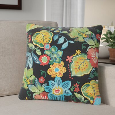 Windy Outdoor Throw Pillow Size: 18 H x 18 W, Color: Black / Green / Blue