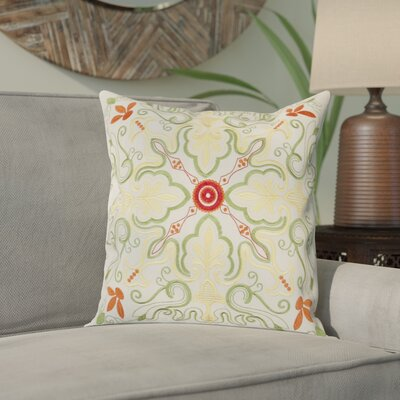 Lisbon Throw Pillow Color: White/Multi