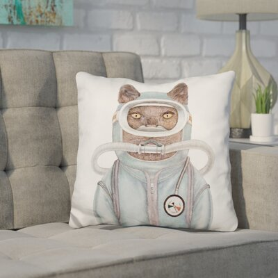 Hibbler Scuba Cat Throw Pillow