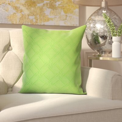 Berri Cotton Throw Pillow Color: Green, Size: 18x18