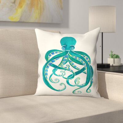 Octopus Throw Pillow Size: 16 x 16