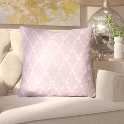 Bonaway Indoor/Outdoor Throw Pillow Size: 18 H x 18 W x 3.5 D, Color: Purple