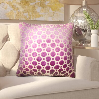 Maeve Geometric Outdoor Throw Pillow Cover Color: Purple