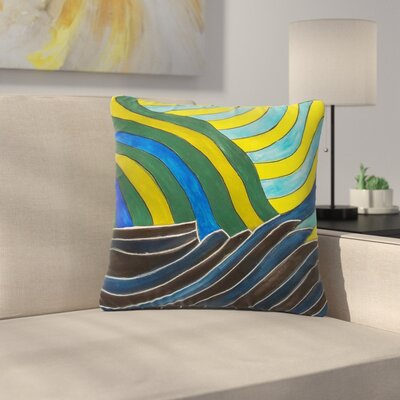 NL Designs Desert Waves Outdoor Throw Pillow Size: 18 H x 18 W x 5 D