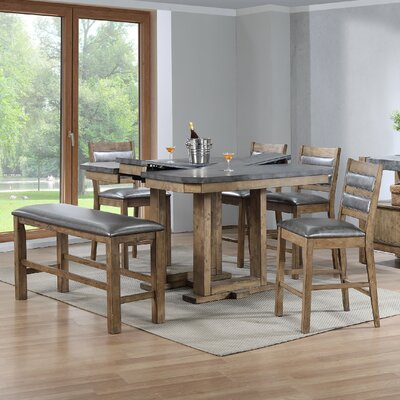 Warthen 6 Piece Counter Height Dining Set