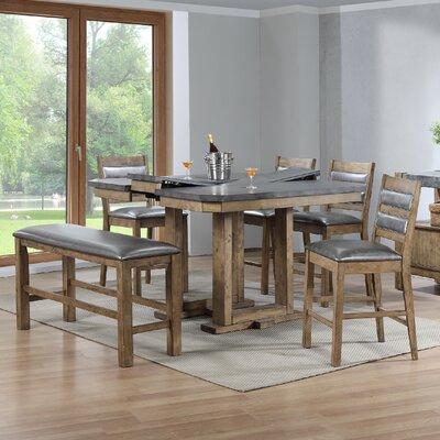 Warthen 6 Piece Counter Height Dining Set
