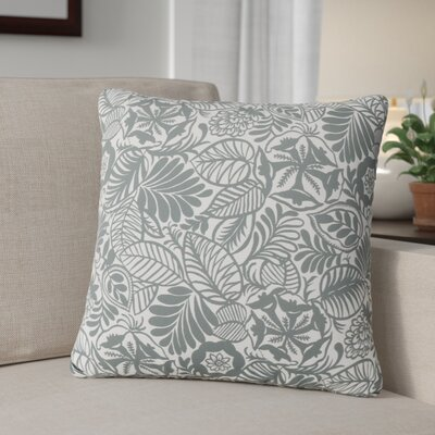 Nhek Floral Throw Pillow Pillow Cover Color: Dark Gray