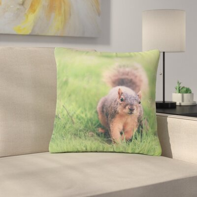 Angie Turner Squirrel Animals Outdoor Throw Pillow Size: 18 H x 18 W x 5 D