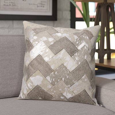 Carentan Throw Pillow Color: Gray/Silver