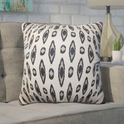 Estill Geometric Cotton Throw Pillow Color: Black