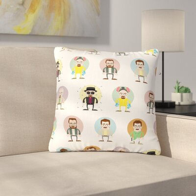 Juan Paolo the Stages of Walter Breaking Bad Outdoor Throw Pillow Size: 18 H x 18 W x 5 D