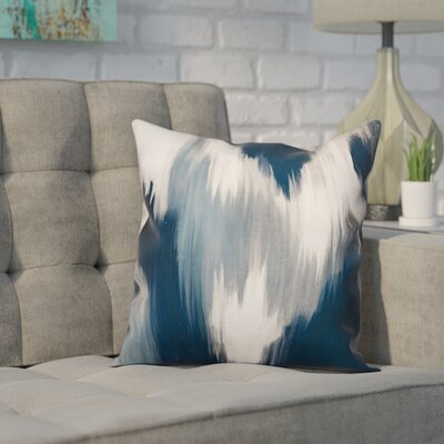 Lansdale Ikat Throw Pillow Color: Blue, Size: 20 x 20, Type: Pillow Cover
