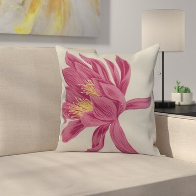Memmott Throw Pillow Color: Pink, Size: 18 x 18